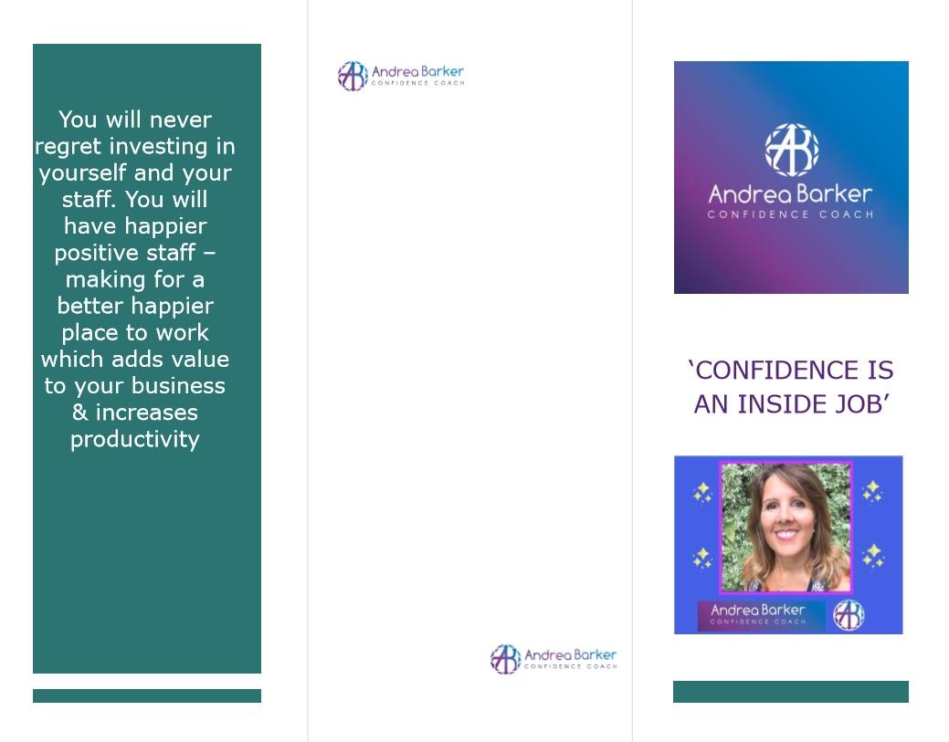Confidence coach promotional leaflet